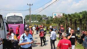 Halk otobüsü, TIR ve otomobil çarpıştı : 1 ölü, 21 yaralı (2)