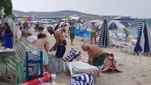 Avşada rüzgar tatilcilere zor anlar yaşattı