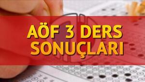 AÖF üç ders sınavı sonuçları Anadolu Üniversite tarafından açıklandı... AÖF geçme notu kaç