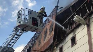 İzmirde fabrika yangını