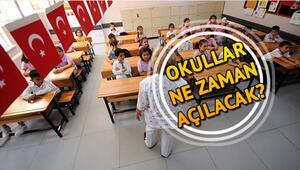 Okullar ne zaman açılacak Yaz tatili ne zaman bitecek