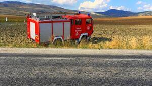 Yangına giden itfaiye aracı otomobille çarpıştı: 1 yaralı