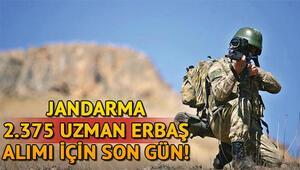 Jandarma uzman çavuş başvurusu için son gün bugün