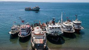 Cezayirde el konulan 3 gemi 9 yıl sonra yeniden Türkiyede