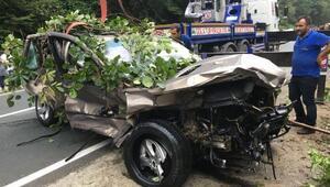 Ayder Yaylası yolunda kaza: 1 ölü, 1 yaralı