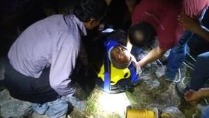 Kayalıklardan düşen kişiyi, AFAD kurtardı