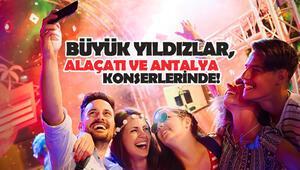 Büyük Yıldızlar, Alaçatı Ve Antalya Konserlerinde