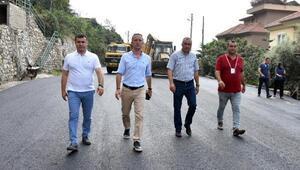 Başkan Yücel asfalt çalışmalarını inceledi
