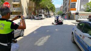 Kamyonetle çarpışan üç tekerlekli bisikletteki engelli yaralandı