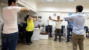 Belediye personeline egzersiz eğitimi veriliyor