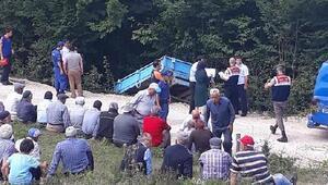Şarampole devrilen traktördeki amca- yeğen öldü