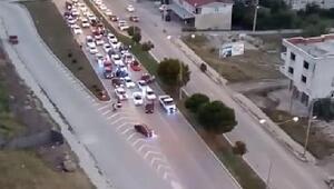 Asker uğurlama konvoyunda trafiği kapatan 3 sürücüye gözaltı