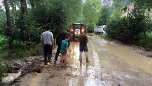 Sel, Mudurnuda köy yoluna hasar verdi
