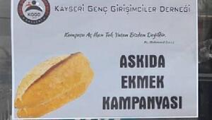 KGGDden askıda ekmek kampanyası