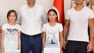 Judocu kızlardan Müdür Loğoğluna ziyaret