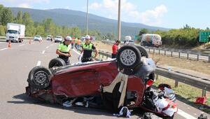 Otomobil, TIRa çarpıp takla attı: 1 ölü, 4 yaralı