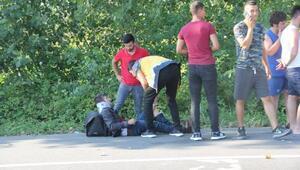 İki motosiklet kafa kafaya çarpıştı: 3 yaralı