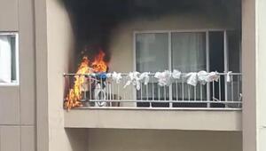 Bursada sigara izmariti yangına sebep oldu