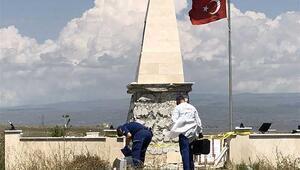 Şehitler anıtına çirkin saldırı