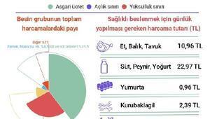 BİSAM: Dört kişilik ailenin açlık sınırı 1,744 lira oldu