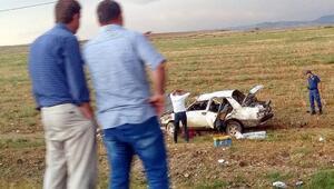 Ankarada otomobil takla attı: 2 ölü, 1 yaralı