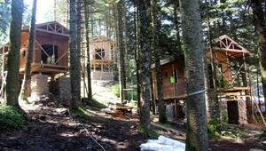 Gölcükte 25 bungalov yapıldı