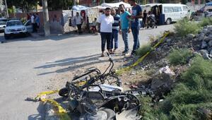 Tren, elektrikli bisiklete çarptı: 1 ölü, 1 yaralı