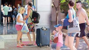 Manavgat'ta müşteri dolu otele icra... Otelde müşteriler varken malzemelere el konuldu