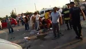 Manavgat'ta tur midibüs ve otomobil çarpıştı: 21 yaralı