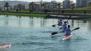 Şanlıurfada Kano ve Su Kayağı Yarışları