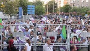 HDPden Diyarbakırda Gençlik Şöleni ve Halk Buluşması mitingi