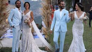 Erkan Kolçak Köstendil ve Cansu Tosun evlendi... İşte düğün fotoğrafları