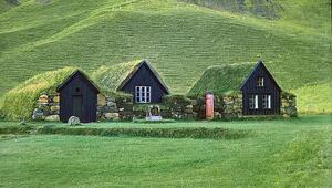 İzlanda'nın görenleri şaşkına çeviren çim evleri
