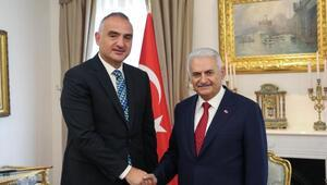 TBMM Başkanı Yıldırım, Kültür ve Turizm Bakanı Ersoyu kabul etti