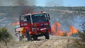 Selendide ormanda yangın çıktı, tarım arazileri de yandı