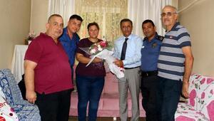 Başkan Pamuk'tan, şehit ailelerine ziyaret