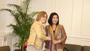 Tayland Büyükelçisinden, Fatma Şahine ziyaret