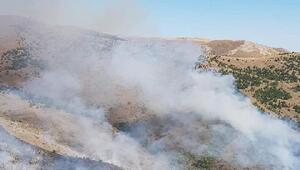 Elmadağdaki orman yangını, 6 saatte söndürüldü