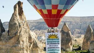 """Kapadokya'dan """"İklim için Ses Ver""""meye davet"""
