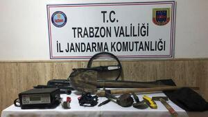 Trabzonda izinsiz kazı yapan 7 kişi gözaltına alındı