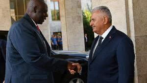 TBMM Başkanı Yıldırım, Nijer Meclis Başkanı Tinni ile görüştü