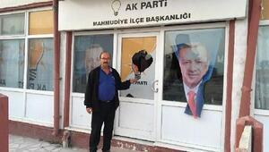 Eskişehirde Ak Parti İlçe Başkanlığı binasına taşlı saldırı