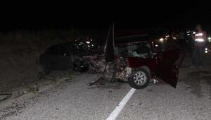 Çankırıda kaza: 1 ölü, 10 yaralı
