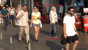 Felç geçiren ünlü oyuncu Taksim'de böyle görüntülendi