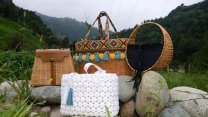 Ev kadınının ürettiği çantalar marka oldu