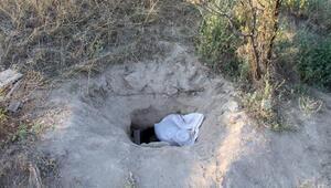 Höyükte kaçak kazıda gazdan etkilenip fenalaştı