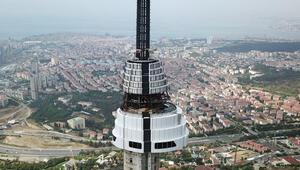 Çamlıca Televizyon Kulesi giydirilmeye başlandı