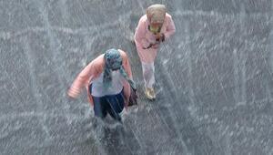 Erzurumda sağanak ve dolu yağışı