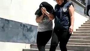 Kameradaki kadın hırsız yakalandı