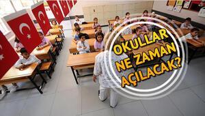Okullar ne zaman açılacak İşte yaz tatilinin biteceği tarih